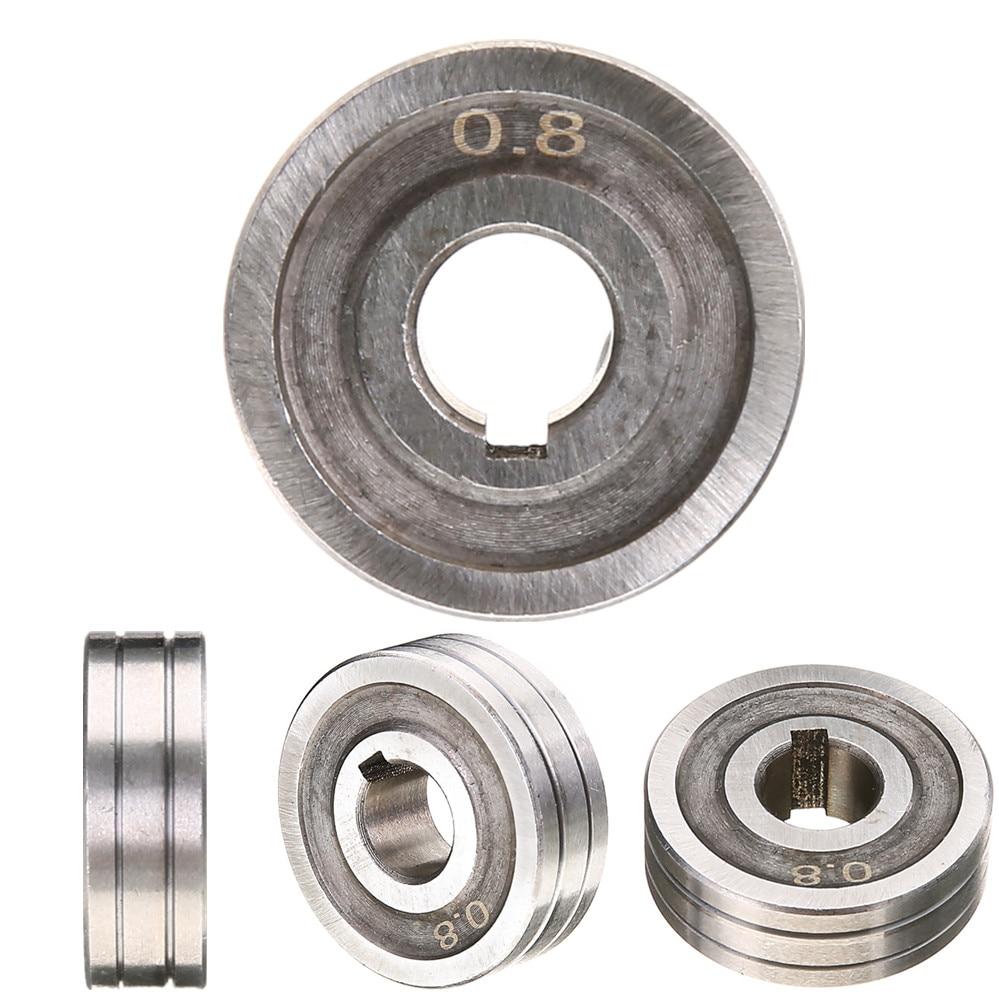 O wysokiej precyzji stali nierdzewnej 0.6X0.8 MIG spawacz podawania drutu wałek napędowy rolki kunrled-groove. 030