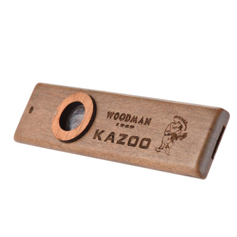 Wooden Kazoo Adult Kids Educational Musical Accompaniment For Bass Ukulele Guitar Jazz Drum Kit