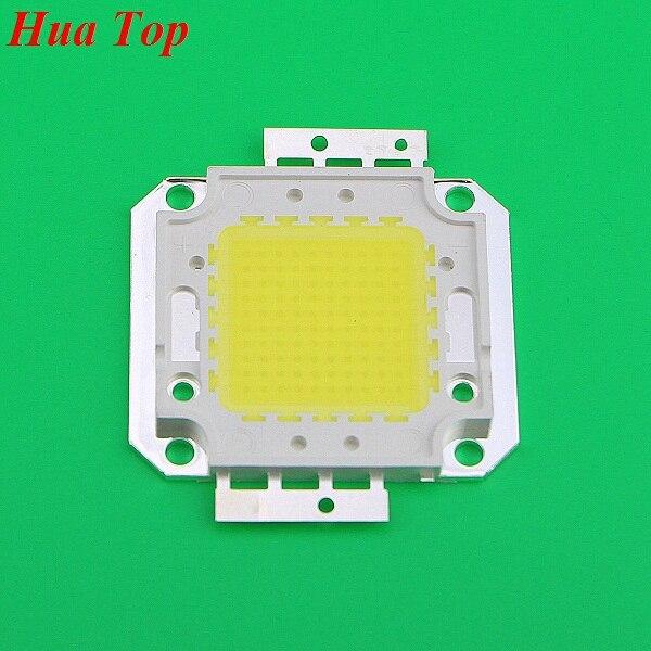 1 pièces pleine 100 W LED puce intégrée Source lumineuse IC 10000LM haute puissance lampe puces 32-35 V 30 * 30mil Epistar SMD ampoule de projecteur COB