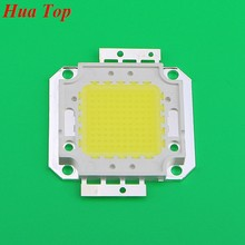 1 Uds. Full 100W LED Chip integrado fuente de luz IC 10000LM Chips de lámpara de alta potencia 32-35V 30 * 30mil Epistar SMD COB bombilla de reflector(China)
