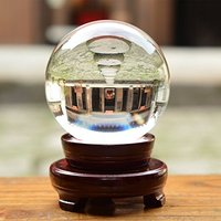 110mm Clear Crystal Ball Fortune Teller Mystical Quartz Ball Photography Props FengShui Divination Spheres Tabletop Decor