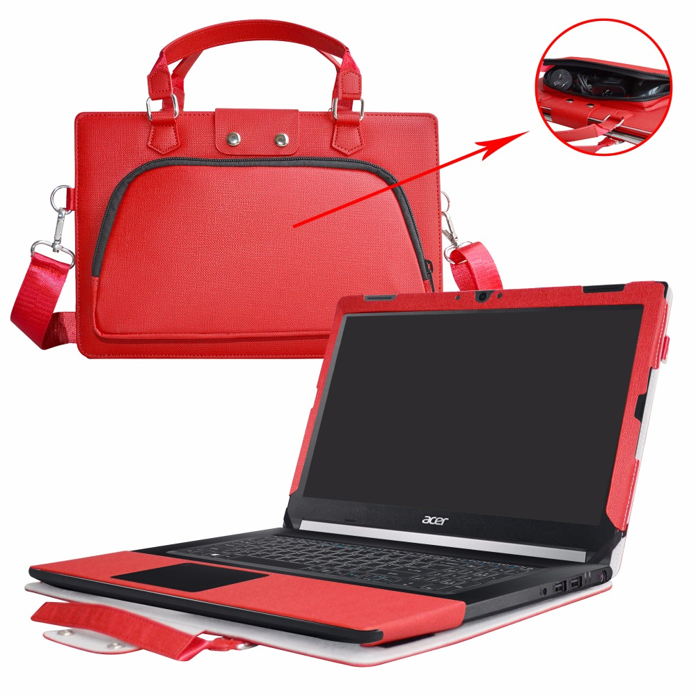 Accurately Designed Protective PU Leather Cover + Portable Carrying Bag For 15.6 Acer Aspire 7 A715-71G A715-71 series Laptop ...