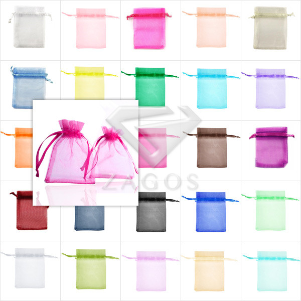 20pcs Bag Organza Rectangle Pouch Bags 20x15cm Gift Wedding Jewellery Reception Party Sweets Favours 25 Color Choose BB0009