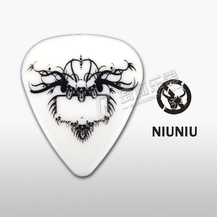 NNPICK by IM Classic Standard Shape Skull Crown Guitar Pick Gauge 1.0mm