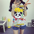 2016 Short-Sleeve tshirt Casual Korean Summer Loose Student Harajuku Style Cute Mickey Cartoon Printed T-Shirts Plus Size Women