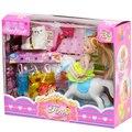Новый Стиль Моды Baby Doll House Набор Экипировка Платье Аксессуары DIY Притворяться, Играть Модель Принцесса Анна Куклы для Девочек Подарочные