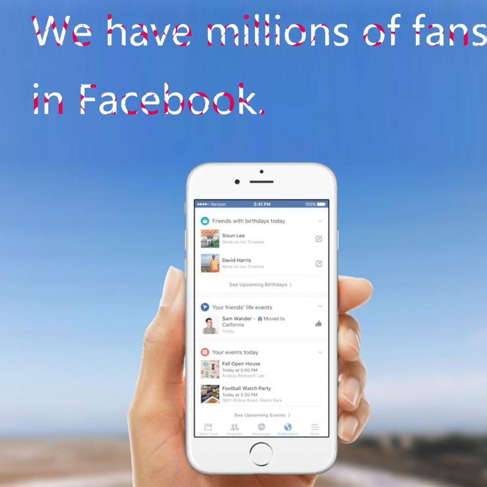 LINLIN Popularize and speed up sales Facebook has millions of fans and dozens of accounts massage