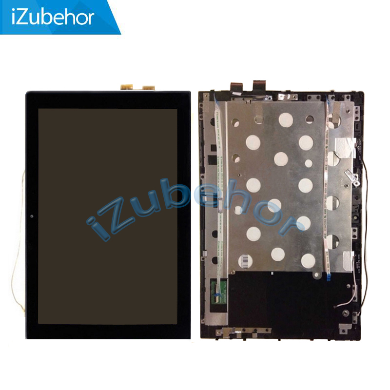100% warranty black lcd screen display with touch screen digitizer panel + Frame assembly For <font><b>Lenovo</b></font> <font><b>Miix</b></font> <font><b>3</b></font>-<font><b>1030</b></font> <font><b>miix</b></font> <font><b>3</b></font> <font><b>1030</b></font> image