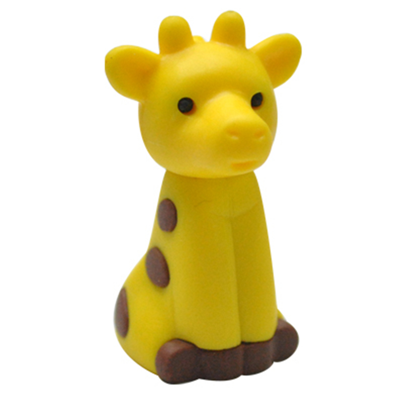 500 Pieces/Lot  Korean Stationery Giraffe Rubber Eraser Wholesale School Stationery Tools Animal Pencil Eraser
