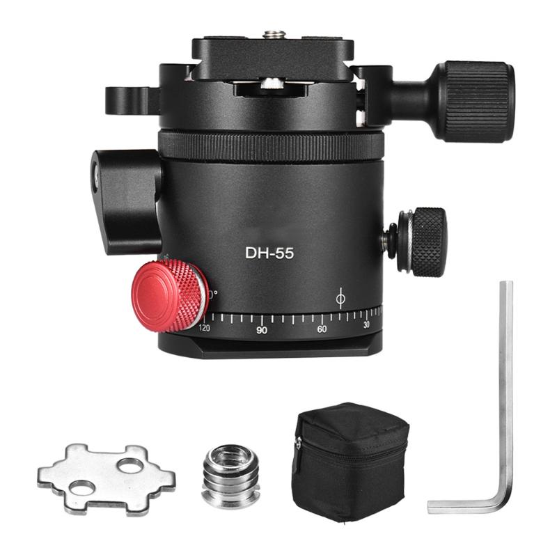 Alloyseed Universal 1/4 Tripod DH-55 Indexing Rotator Panoramic Ball Head with Quick Release Plate with Storage Protector Bag