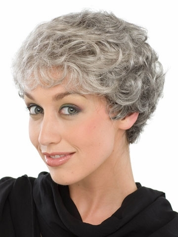 Top Quality Grey hairstyles hair wigs for old Women Heat Resistant ...