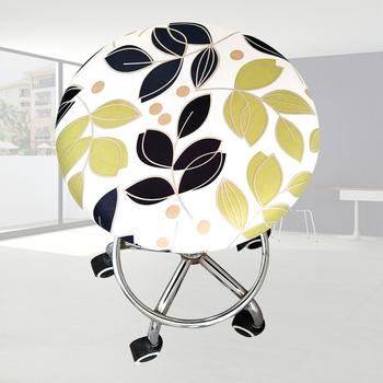 Miękkie spotkanie elastyczny pokrowiec Seat Office Home poliester okrągłe krzesło stołek Cover Bar Floral wydrukowano cztery pory roku Ornament L0318 tanie i dobre opinie HOUSEEN Drukowane Nowoczesne Ślub krzesło Elastan poliester