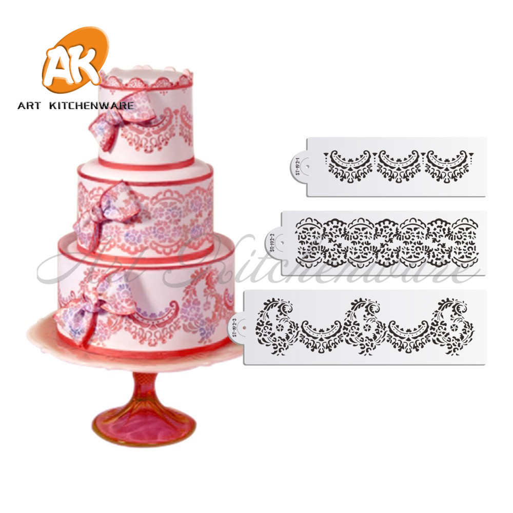 3pcs Rose Cake stencil for Wedding Cake Decorating Supplies Tools ...
