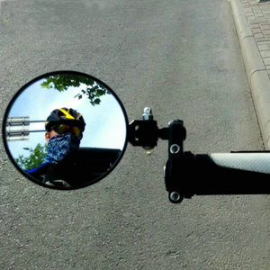 """Image 5 - Motorcycle Round 7/8"""" Handle Bar End Foldable Motorbike Rear View Side Mirrors Cafe Racer Mirrors"""