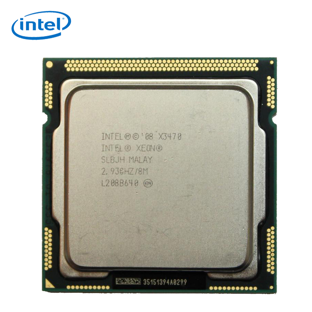 Intel Xeon X3470 Desktop Processor 3470 Quad-Core 2.93GHz 8MB DMI 2.5GT/s LGA 1156 Server Used CPU image