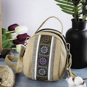 Image 5 - 2019 ใหม่ผู้หญิง Messenger กระเป๋าเย็บปักถักร้อยแห่งชาติผ้าใบขนาดเล็ก Totes Zipper โทรศัพท์มือถือกระเป๋าสะพายกระเป๋า