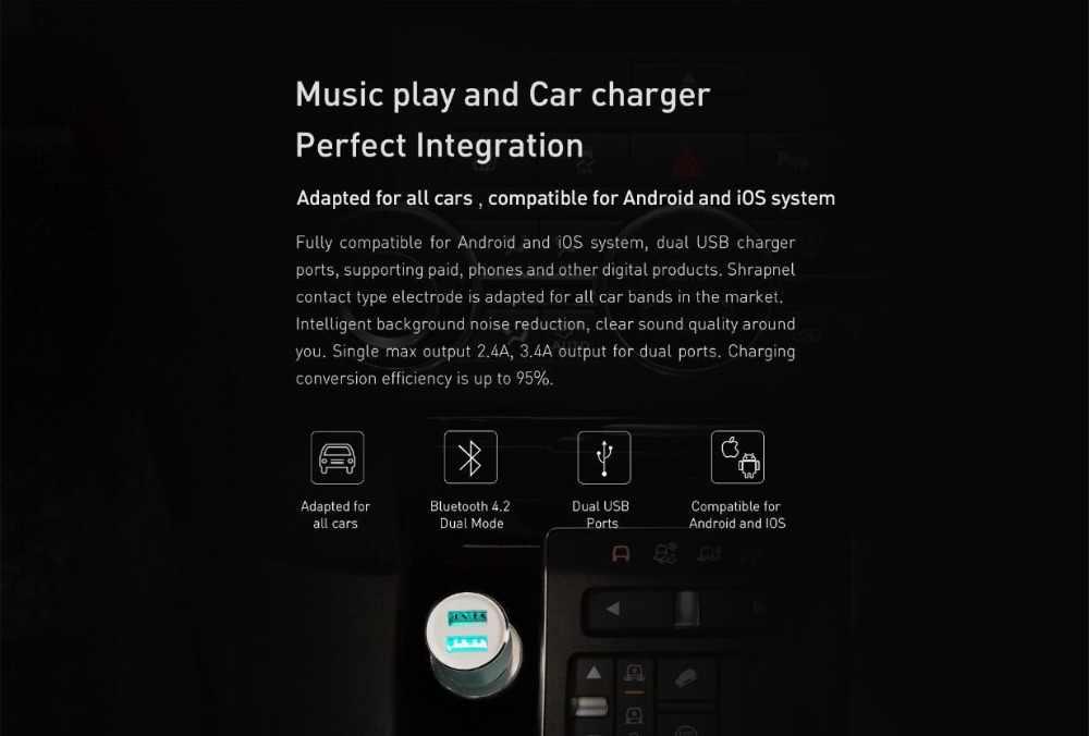 Xiaomi Roidmi 3 S MOJIETU bluetooth автомобильное зарядное устройство 5 В/3.4A музыкальный плеер Смарт-приложение FM + Roidmi магнитный автомобильный держатель для смартфона