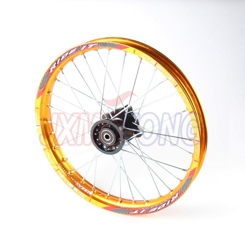 все цены на 1.60x 17'' Front Rims Aluminum Alloy Disc Plate Wheel Rims Pit Dirt Bike Motor
