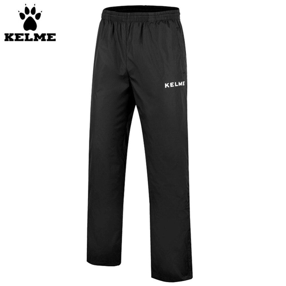 ФОТО Kelme K15Z422 Soccer Training Pants Men Elastic Bands Moderate Elasticity Sports And Leisure Trousers Black White
