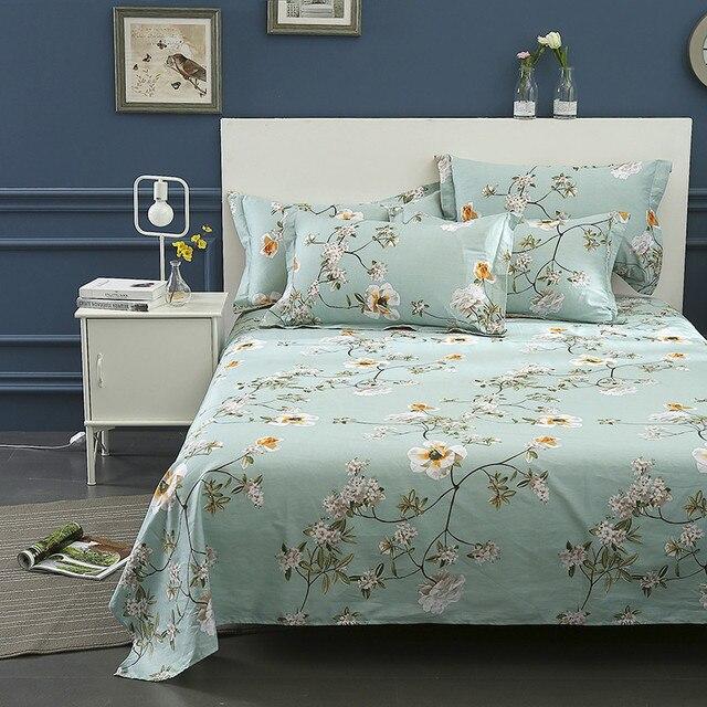 Superbe 100% Cotton 3pcs Bed Sheets Pillowcases Fashion Home Textiles Bed Linen  Romantic Warm Garden Prints