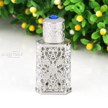 Винтажный выдалбливающий металлический стеклянный флакон для духов пустая Пробка Свадебный подарок 2 мл