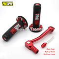 NEW MX Dirt Pit bike Cross Pro Taper 7/8'' 22mm Hand Grips 2'' Alloy Folding shift lever Fuel Gas Cap Vent Fit Pit Pro KAYO RED