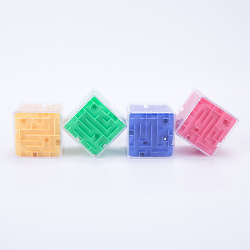 8cm Large Size 3D Maze Puzzle Game Labyrinth Magic Cube Cubos Magicos Rolling Ball Toys Kids Educational Toy -45