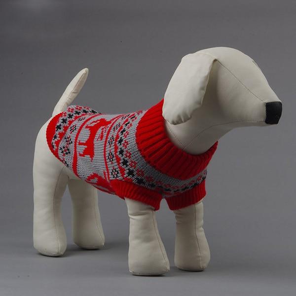 27be38dd6c3f3 Belle Petit Pet Chiens Chat Hiver Chaud Chandail De Noël Elk Tricot Manteaux  Outwear Vêtements Nouveau