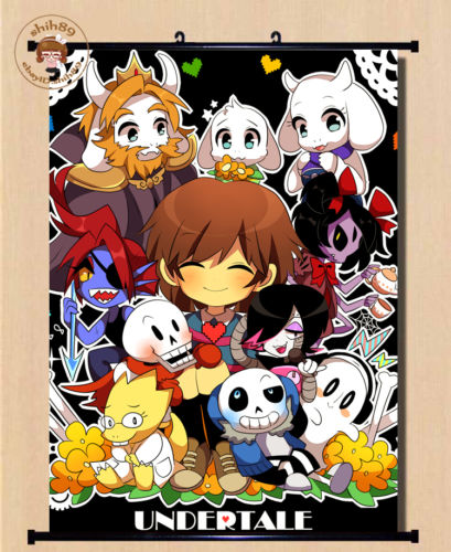 undertale  Undertale Sans And Papyrus Skeleton Brother Home Decor Poster Wall ...