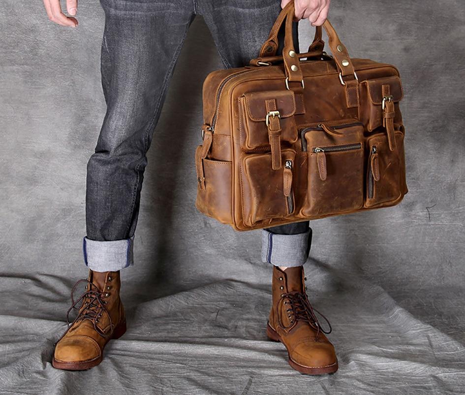 Oiseaux de mer 100% en cuir véritable hommes sacs mode homme bandoulière sac à main hommes Messenger sacs homme mallette hommes sac de voyage