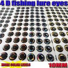 2017 NOVA 4D isca de pesca olhos mais cor de olhos de peixe tamanho: 10MM 4 papéis cor total de 308 pçs/lote