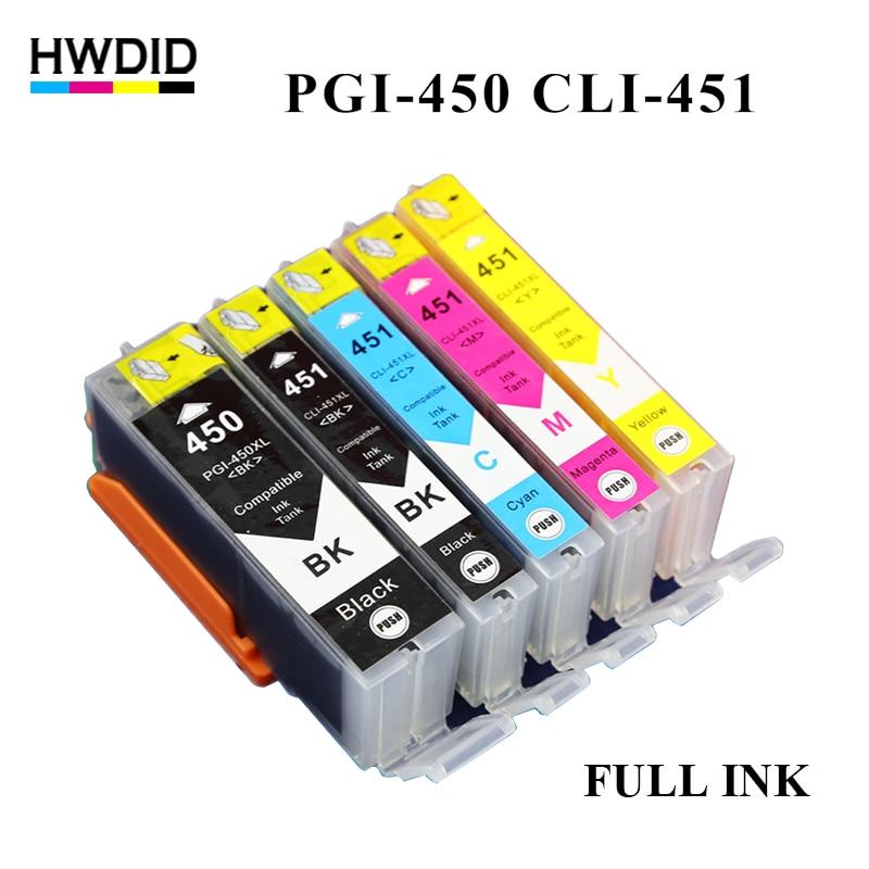 5PK PGI 450 CLI 451 ink cartridge For CANON PGI 450 CLI 451 PIXMA MG5440 MG5540