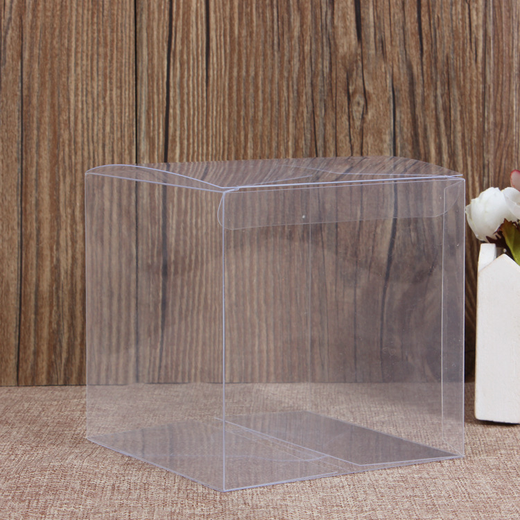 50 Pieces/lot PVC Square Gift Boxes Favor Candy Packing Souvenir Box Transparent Event Chocolate Dessert Bags 6x6x6cm
