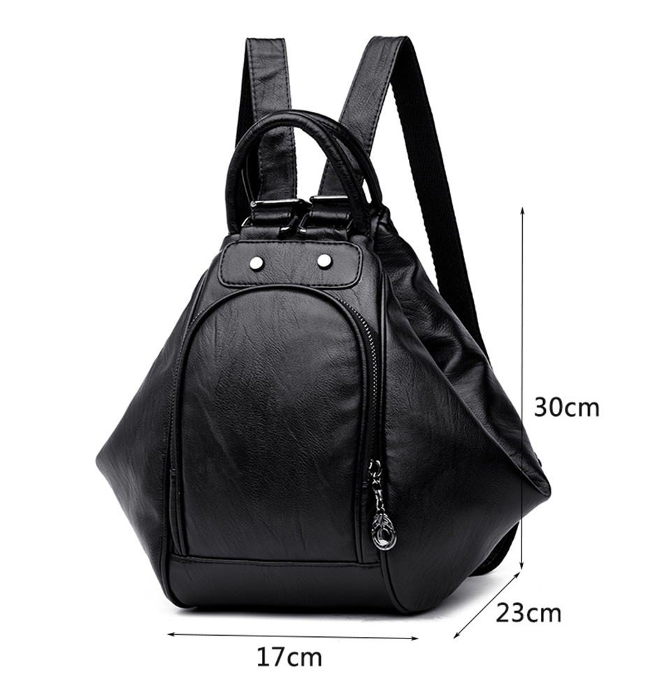 3-in-1 Backpack Multifunction Women Backpack Leather School Bag For Girls  Mochila 2019 New Fashion Travel Back Pack Sac A Main c78a76bb8790