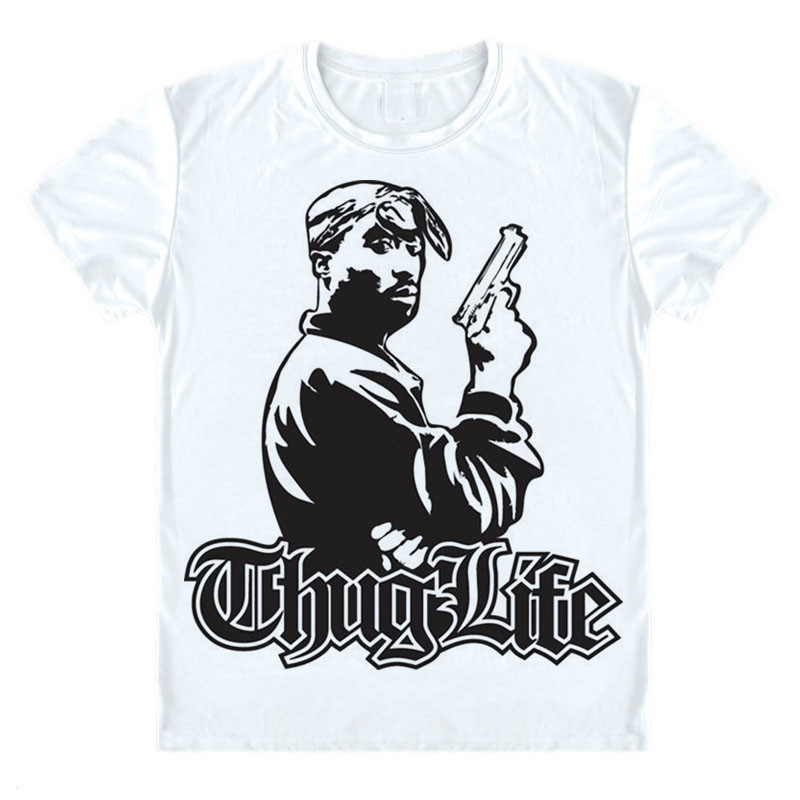 fd0efe07 Thug Life T Shirt HUG LIFE TUPAC SHAKUR SAKUR 2PAC T-shirt Life funny  Parody GANGSTA Short Sleeve Tee Shirt Hip Hop Legends Top