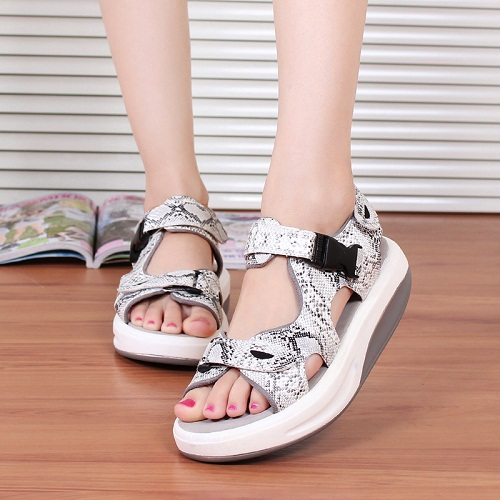 2015 serpentine pattern beach woman sandals plus size 3 color 10 platform swing shoes leopard print free - White Shoes Boutique store