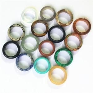 Image 2 - Nowy super modna podkoszulka jakości Onyx opal tygrysie oko moda mix kolor naturalny kamień obrączki obrączki lot dla kobiet mężczyzn 10 sztuk 8MM 18 #20 #