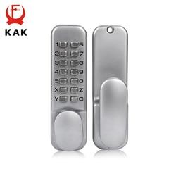 KAK In Lega di Zinco In Miniatura Meccanica Keyless Password di Blocco Impermeabile Numberal Serratura Della Porta Non-Chiusura Centralizzata Per La Sicurezza Domestica