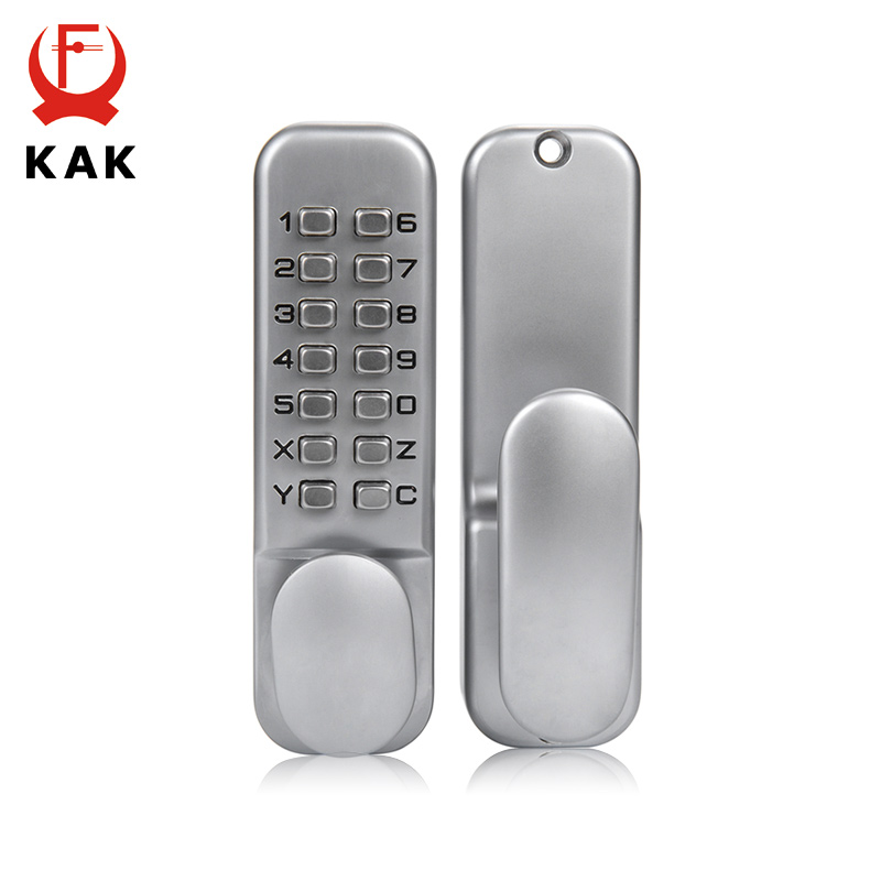 KAK Zinc Alloy Miniature Mechanical Keyless Password Lock Waterproof Numberal Door Lock Non-Power Locks For Home Security high quality zinc alloy hasp latch lock door chain security anti theft clasp window cabinet locks for home hotel hardware k77