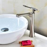Bathroom faucet Nickel Tall basin faucet ,Brass basin sink faucet basin mixer Luxury water tap Lavatory Mixer
