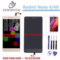 For Xiaomi Redmi Note 4 4X LCD Display Global Version Snapdragon 625 Touch Screen Digitizer MI