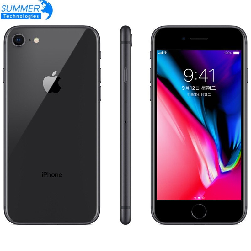 "Original Unlocked Apple iPhone 8 LTE Smartphone Used Mobile Phone  2GB RAM 4.7"" 12.0MP Hexa Core Fingerprint iOS(China)"