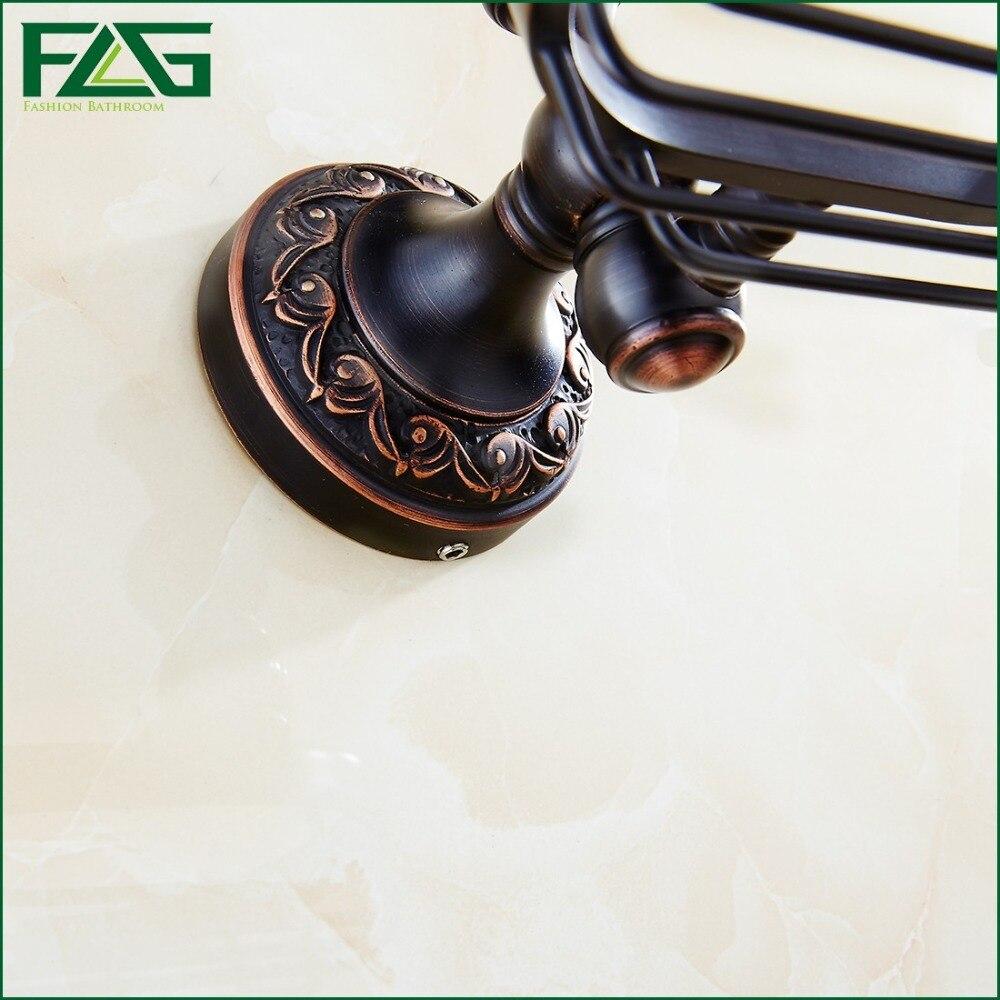 FLG Hoge Kwaliteit Messing Olie Gewreven Brons Black Zeep Rack ...