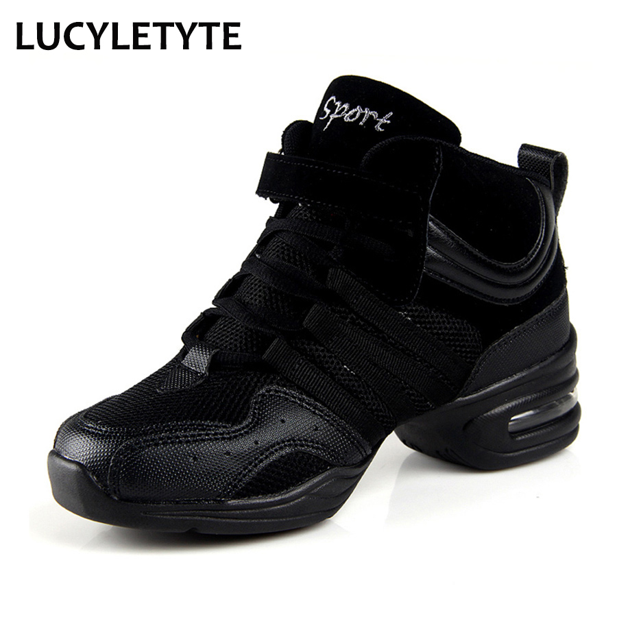2018 Hot Sale Sports Feature Soft Outsole Breath Dance Sko Sneakers For Woman Practice Shoes Moderne Dance Jazz Shoes Discount
