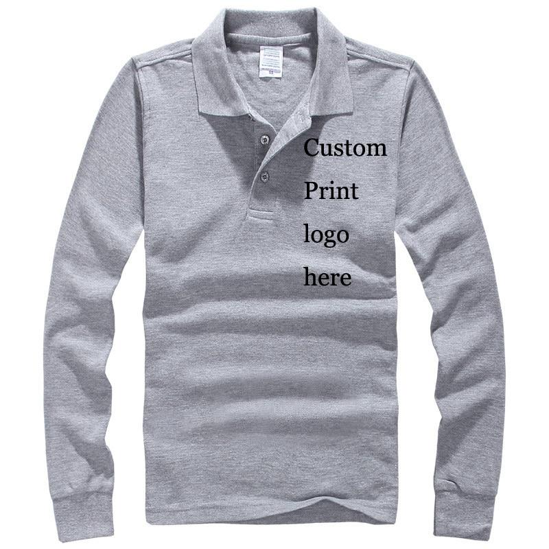 Custom Print Poloshirt Logos Embroidery Heat Transfer Digital Silk Screen Print Tunic Promotional Custom Made   polos   100% cotton