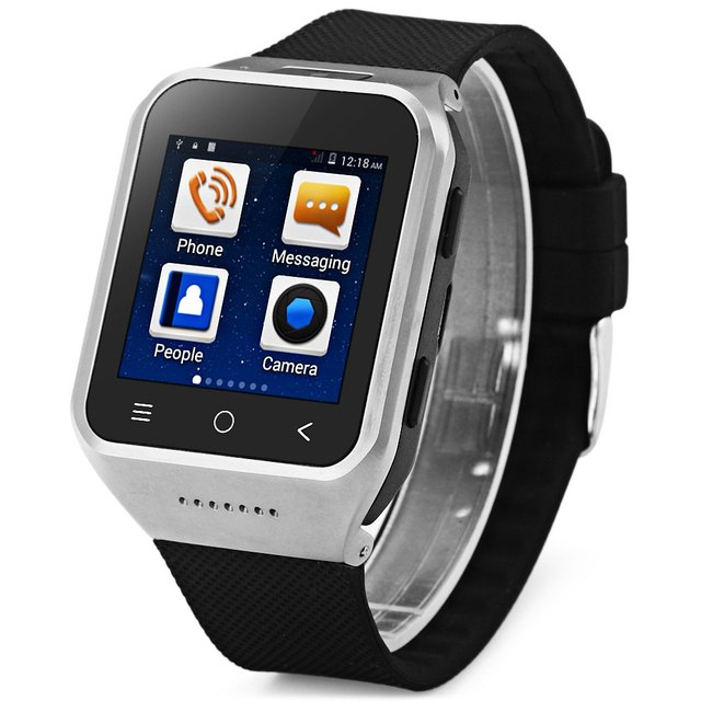 Zgpax s8 android 4.4 smart watch phone mtk6572 dual core 1.0 ghz com 1.54 Polegada Touch Screen Único SIM Bluetooth Camera MP3 MP4