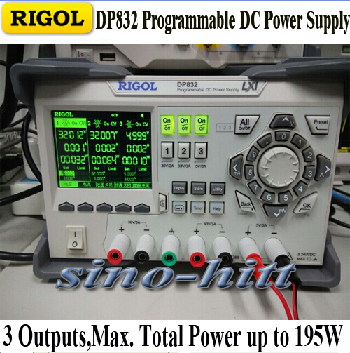 Rigol DP832 Programmable Linear DC Power Supply 3 Channels, Channel Isolation Built In V,A,W Measurements And Waveform Display