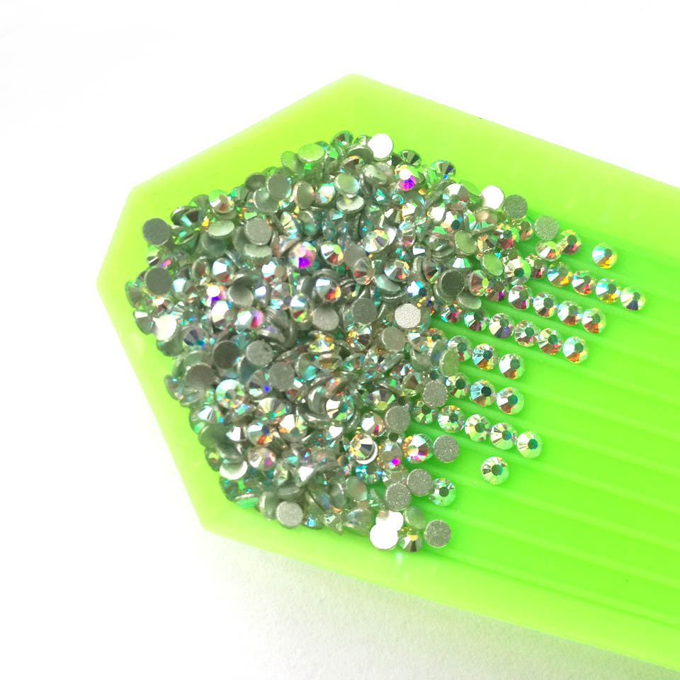 Crystal Nails Art Rhinestones Glass AB Rhinestones on Nails Design Glass 3D Strass Nail Art Decoration Gems Manicure ZJ10860 ab rhinestones for nails glass mix size clear strass nail art decorations 3d nail rhinestones on nails art manicure mjz00280