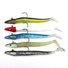 10Pcs/Lot Excessive High quality Lead Head Fishing Lures Smooth Lure Single Hook Smooth Bait Jigging Lure Fishing Bait Fishing Sort out 11cm 10g