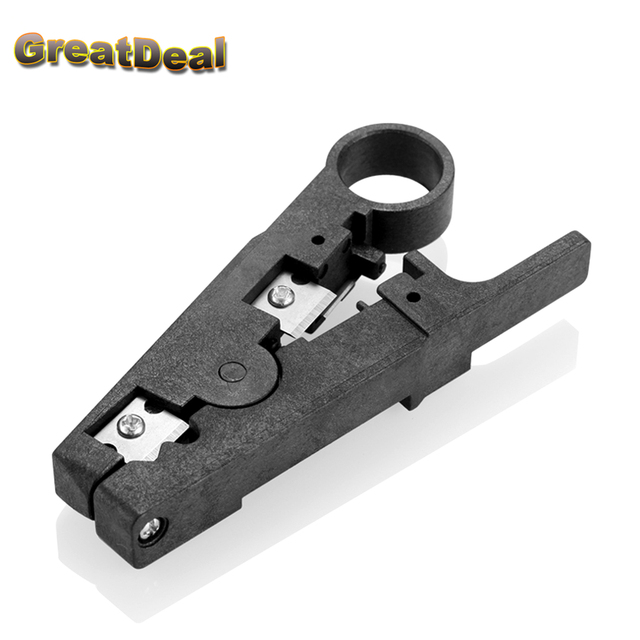 MultiFunction Cable Stripper Cutter RJ45 Stripper for UTP STP RJ45 Network Tools Black HY1503